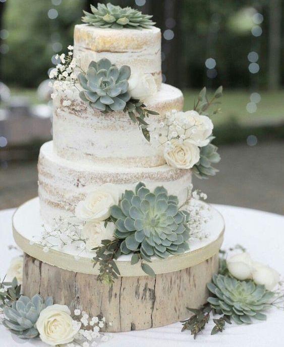 Pinterest Ginagilderman Country Wedding Cakes Succulent