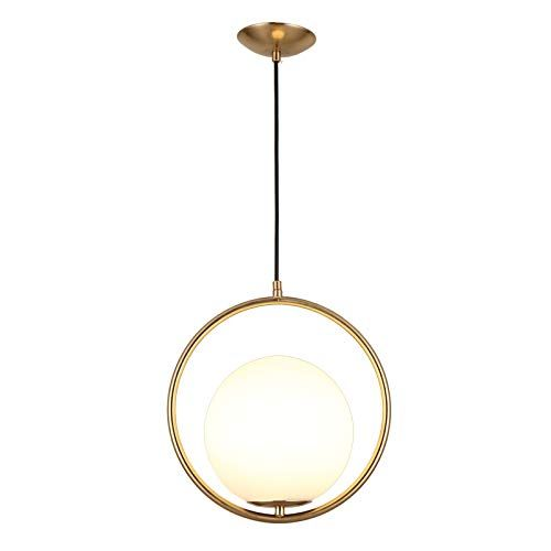 Jinyuze Modern Round Pendant Light Gold Black Indoor Ceiling Light