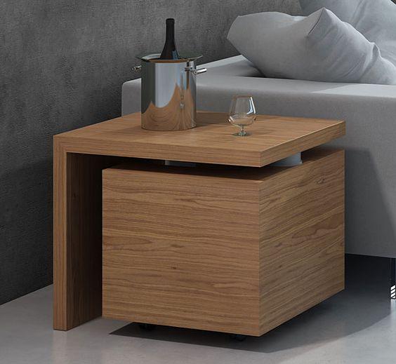 mueble bar moderno giro material madera de roble existe