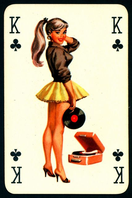 Pin Up Playing Card - King of Clubs by cigcardpix, via Flickr