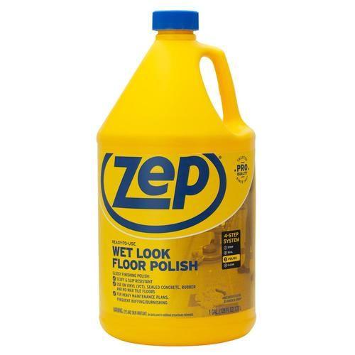 Zep Wet Look 128 Oz Floor Polish In 2020 Polish Floor Wet Look Flooring