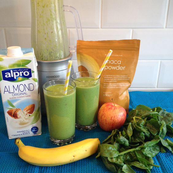 Fertility Smoothie, click through for recipe. Very delicious!   (almond milk apple banana breakfast calories dairy free fertility fertility smoothie green juice green smoothie healthy eating healthy living infertility iron maca organic recipe spinach vegan vegetarian vitamins weight watchers)
