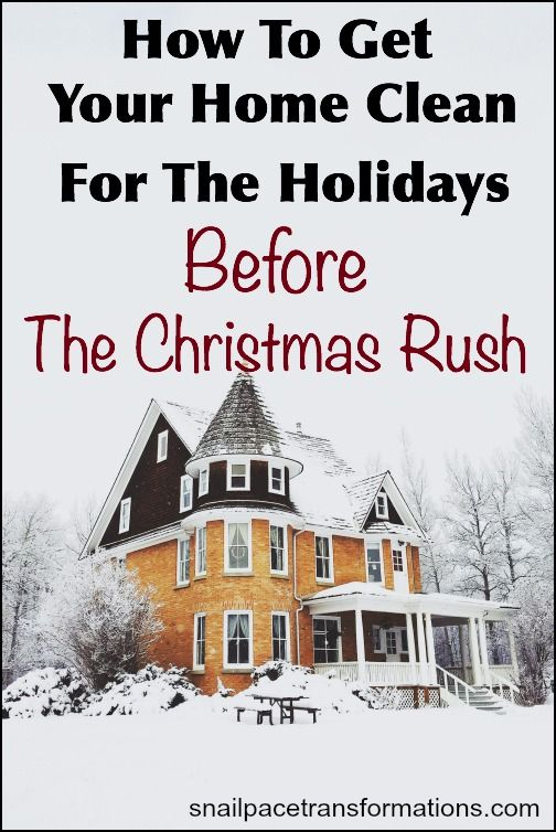This post contains two plans to help you get your home clean for the holidays -- before the Christmas season even begins.
