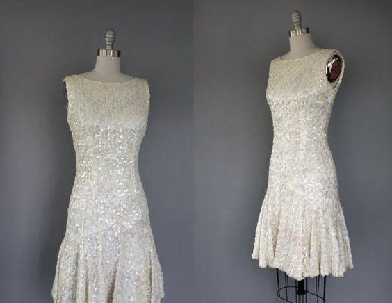 1960's wedding dress.