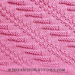 Diagonal knitting stitch Knit and purl combinations knitpurlstitches.com ...