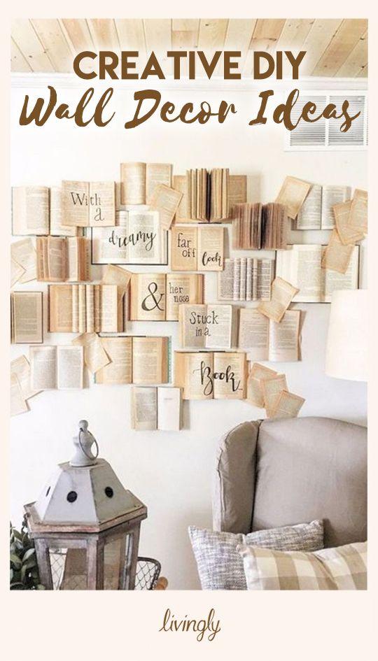 Creative Diy Wall Decor Ideas Creative Wall Decor Home Diy Decor
