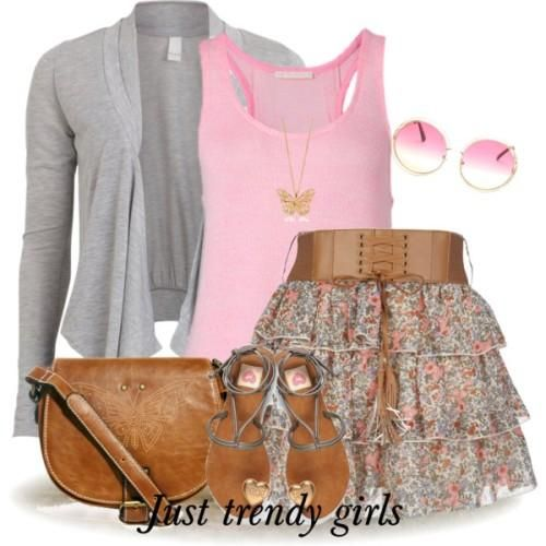 cute teen outfit, ruffle mini skirt, Fresh summer outfits http://www.justtrendygirls.com/fresh-summer-outfits/
