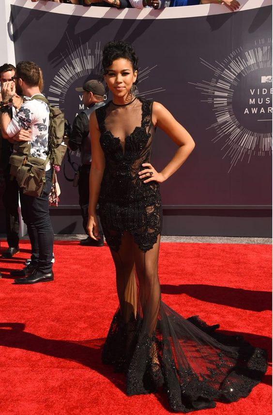 Alexandra Shipp  photographed on the red carpet at the 2014 MTV Video Music Awards in Inglewood, California