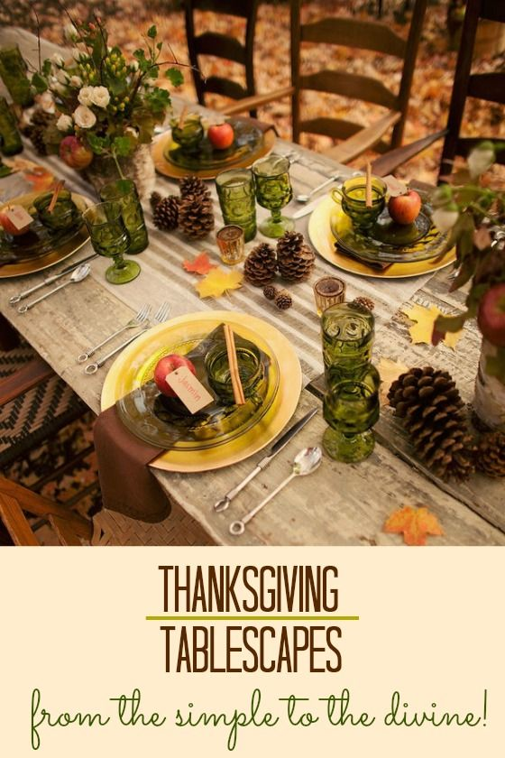 Thanksgiving Table Thanksgiving And Tablescapes On Pinterest