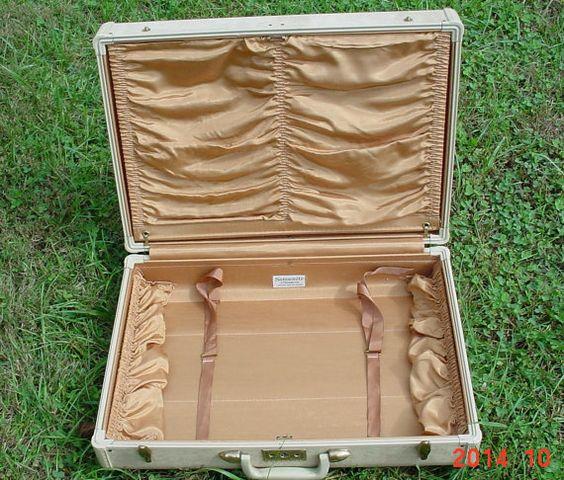Samsonite 1950's Tan Vintage Suitcase by MellyMcBlueTreasures