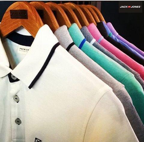 Polo yaka tişörtlerin modası hiç geçmez!  Jack & Jones #Espark 1. katta.