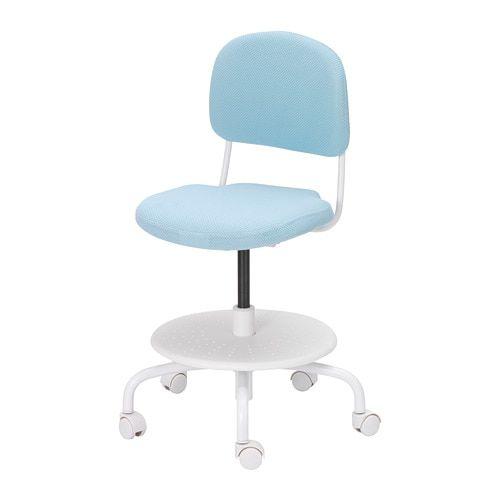 Vimund Child S Desk Chair Light Turquoise Sillas De Escritorio Sillas Escritorios Para Ninos