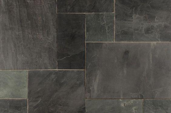 Roterra slate tiles versailles pattern slate tiles for Slate floor patterns