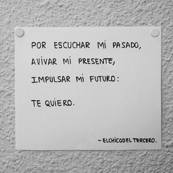 Te quise, te quiero y te querré. #Elchicodeltercero #Lachicadelquinto #Alasdiezenlaazotea