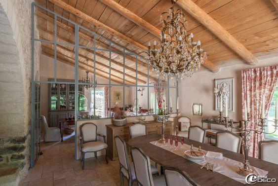 Verri re install e entre une cuisine et la salle manger - Verriere entre cuisine et salle a manger ...