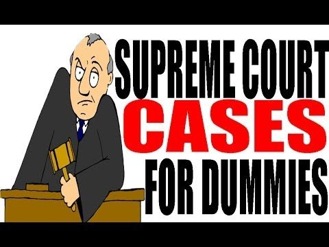 Supreme Court Cases For Dummies: US History Review - YouTube