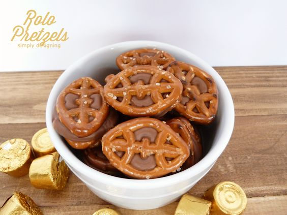 Chocolate Caramel Pretzels (aka Rolo Pretzels) - these are so simple to make and would be the hit of any game day party!