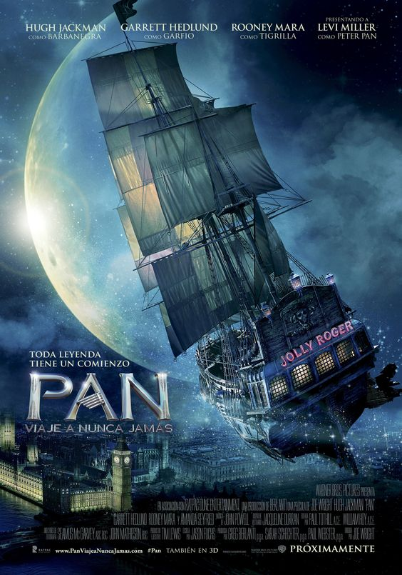 """Póster teaser de """"Pan: Viaje a Nunca Jamás"""", estreno 9 de Octubre #PAN"""