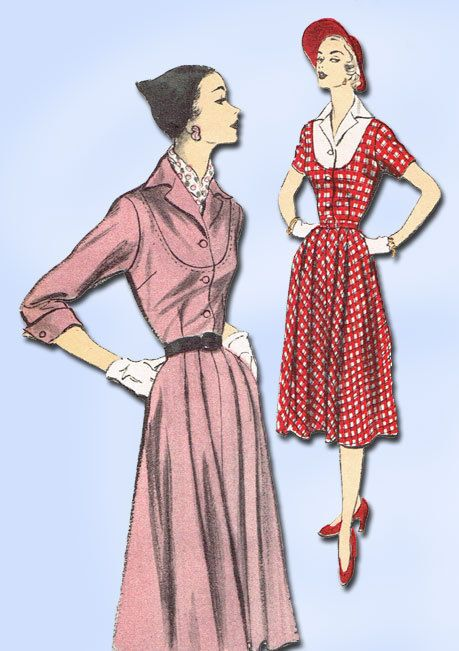 Details About 1950s Vintage Advance Sewing Pattern 5729 Stylish