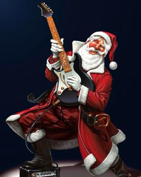 Punk Rock Christmas Playlist To Get You Celebratin Creepy Christmas Christmas Rock Christmas Art