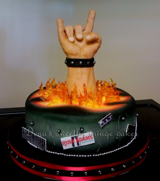 Pictures Of Rock And Roll Birthday Cakes