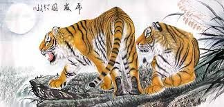 arte chino pintura tigre - Buscar con Google