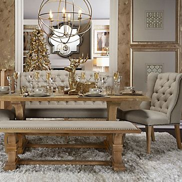 Dining room furniture dining tables and banquettes on for Z gallerie dining room chairs