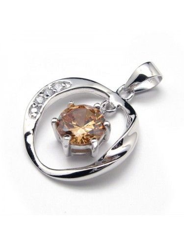 CHEAP CRYSTAL SILVER ZIRCON PENDANT
