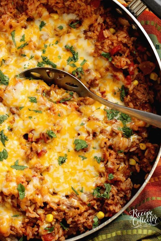 One-Pot Mexi Beef & Corn Bake