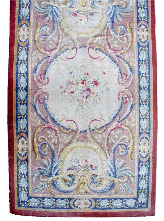 Antique carpets european american french aubusson savonnerie beige botanical…