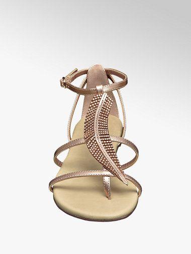 Sandale von Graceland in rosegold DEICHMANN | Schuhe damen