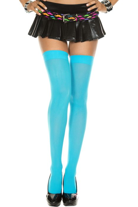 Only $4.95! Opaque baby blue thigh high stockings...http://julbie.com/accessories/opaque-baby-blue-thigh-hi-stockings/