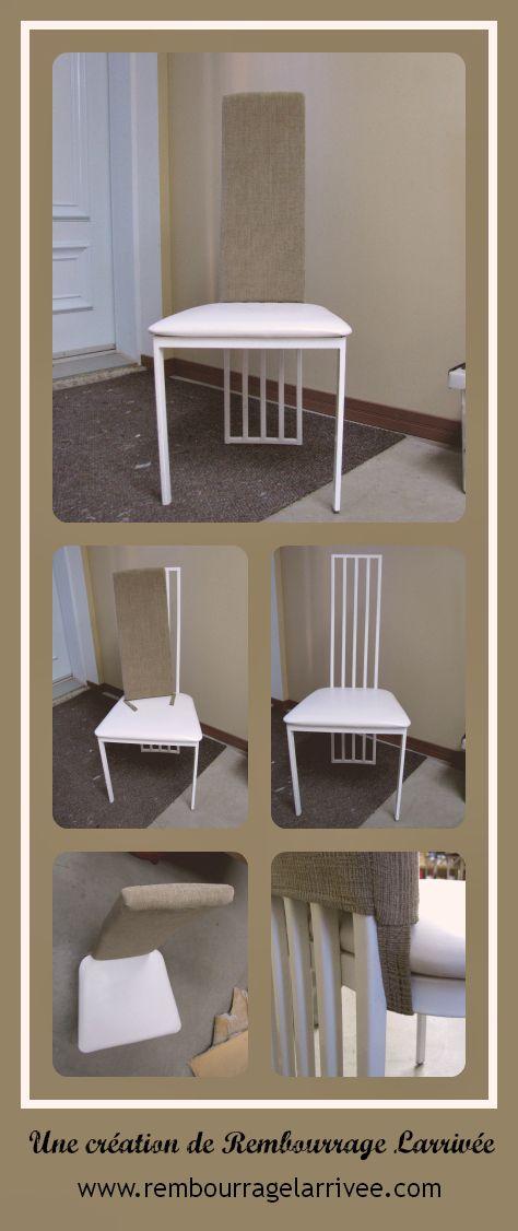 ajout d 39 un rembourrage amovible au dossier d 39 une chaise de cuisine afin d 39 en augmenter le. Black Bedroom Furniture Sets. Home Design Ideas