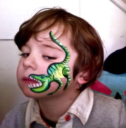 T REX face paint | Flickr - Photo Sharing!