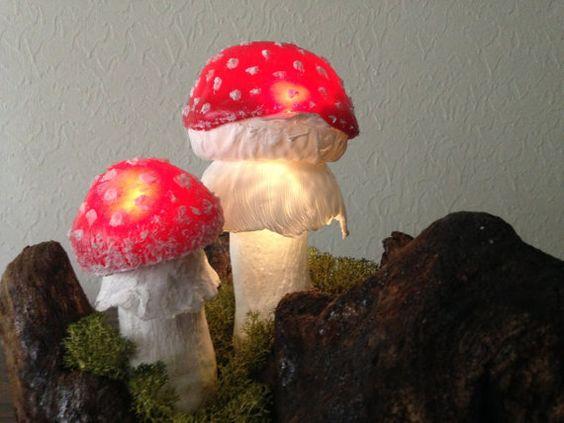 Cogumelos Mágicos Luminosos Decorativos