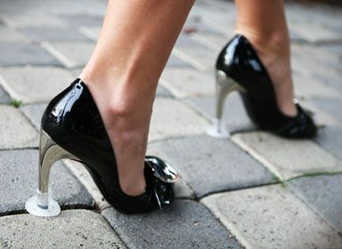 Perfect for working in the city.  Protect my heels and me from tripping.
