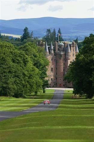 Glamis Castle, Scotland. Home of the Lyon family since 14th century and childhood home of Elizabeth Bowes-Lyons who married King George VI and was later known as Queen Elizabeth the Queen Mother.
