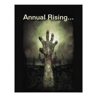 "Annual Rising Halloween Party Invitation 4.25"" X 5.5"" Invitation Card"