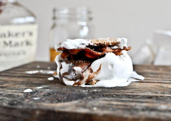 Bourbon Bacon Marshmallow Smores