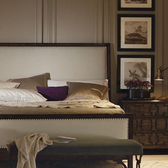 bernhardt vestige collection bedroom in ivory gold plum
