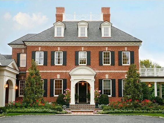 Curb appeal another great example of beautiful design for Brick colonial house plans
