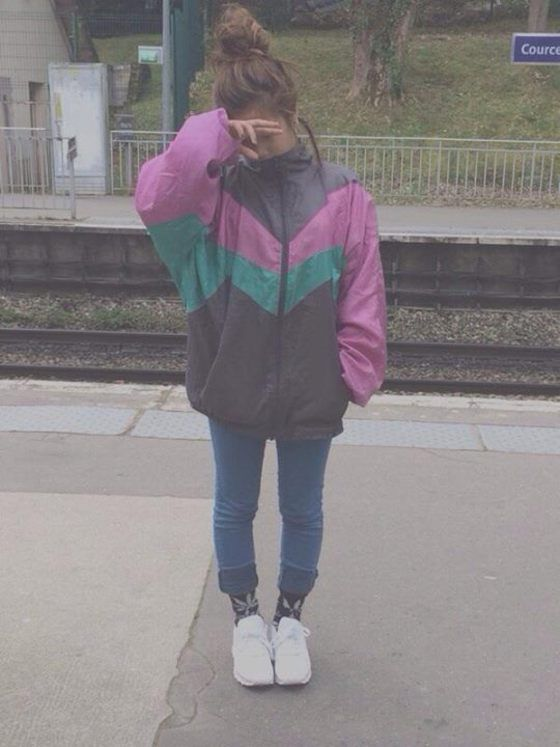 Jacket Vintage 80s Style 90s Style Windbreaker Windbreaker Outfit Casual Windbreaker Outfit Aesthetic Clothes