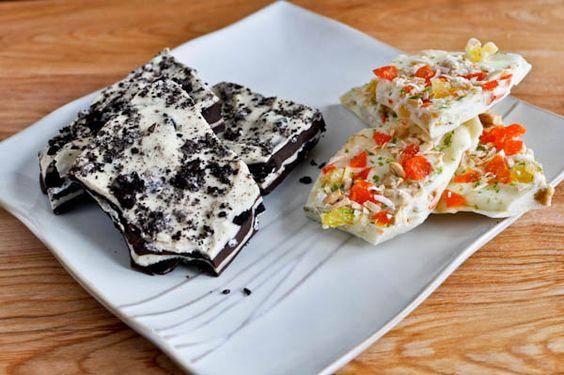 Four Layer Cookies 'n Cream Chocolate Bark & Island coconut bark