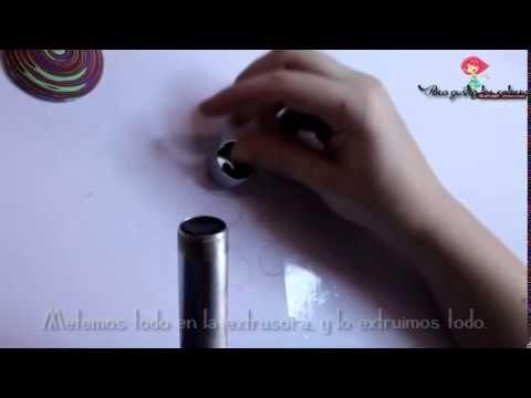 Video-tutorial ESPIRAL con extrusora en arcilla polimérica / SPIRAL with...