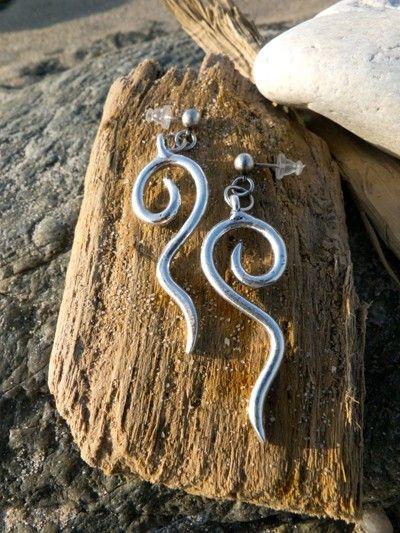 Boucles d'oreille argent vieilli Alchimy TABOO 2