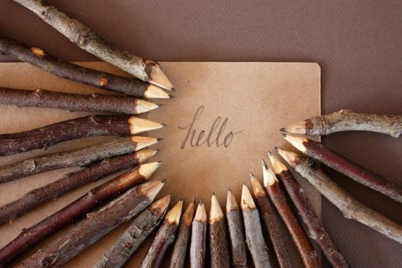 The written word gets that much more special when you use a handmade twig pencil. | pinned via @Etsy | #Trees #TreeArt #Art