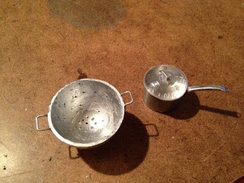 How to Make A Doll Colander and Sauce Pan - YouTube