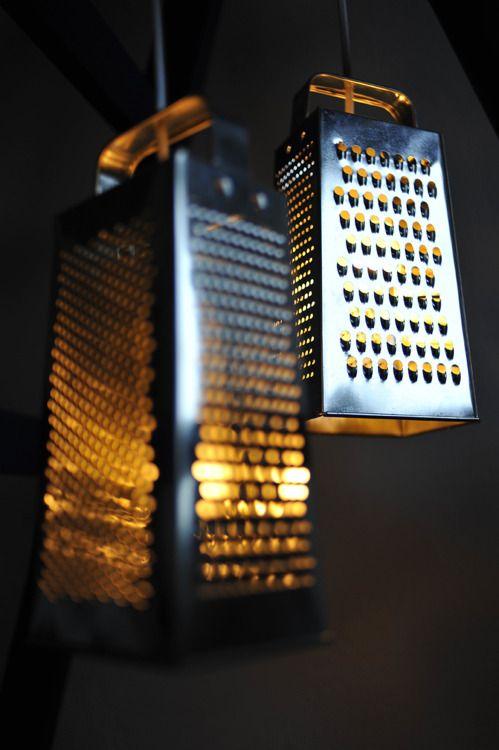 DIY Lampen aus Küchenreiben