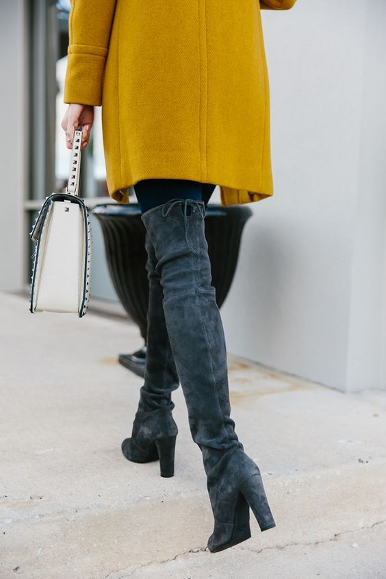 BUNDLED UP IN GRAYS & MUSTARD | Sequins & Things