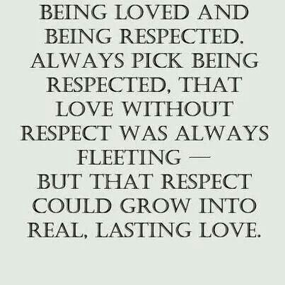 Respect that